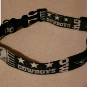 Dallas cowboys dog collar l/xl